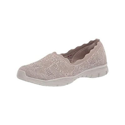Skechers womens Seager - Bases Covered Loafer, Taupe, 10 US