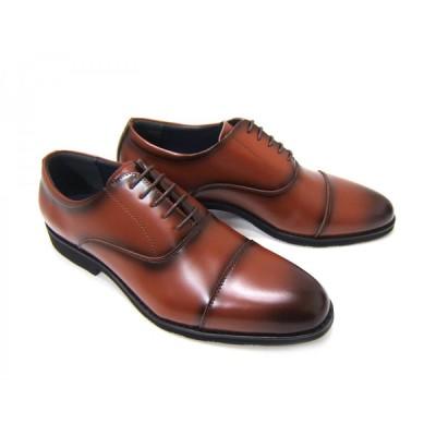 Limontiba/リモンティバ 紳士靴 ロングノーズ ビジネス ストレートチップ 内羽根 送料無料 ブラウン LM-3026