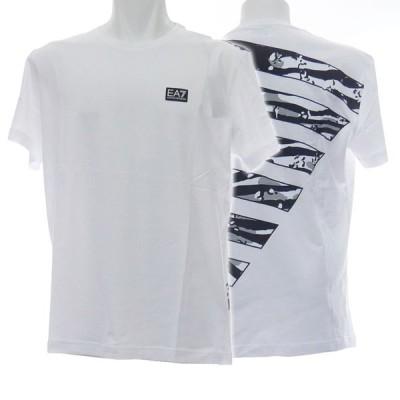 EMPORIO ARMANI エンポリオアルマーニ EA7 メンズクルーネックTシャツ 3HPT51 PJV5Z ホワイト