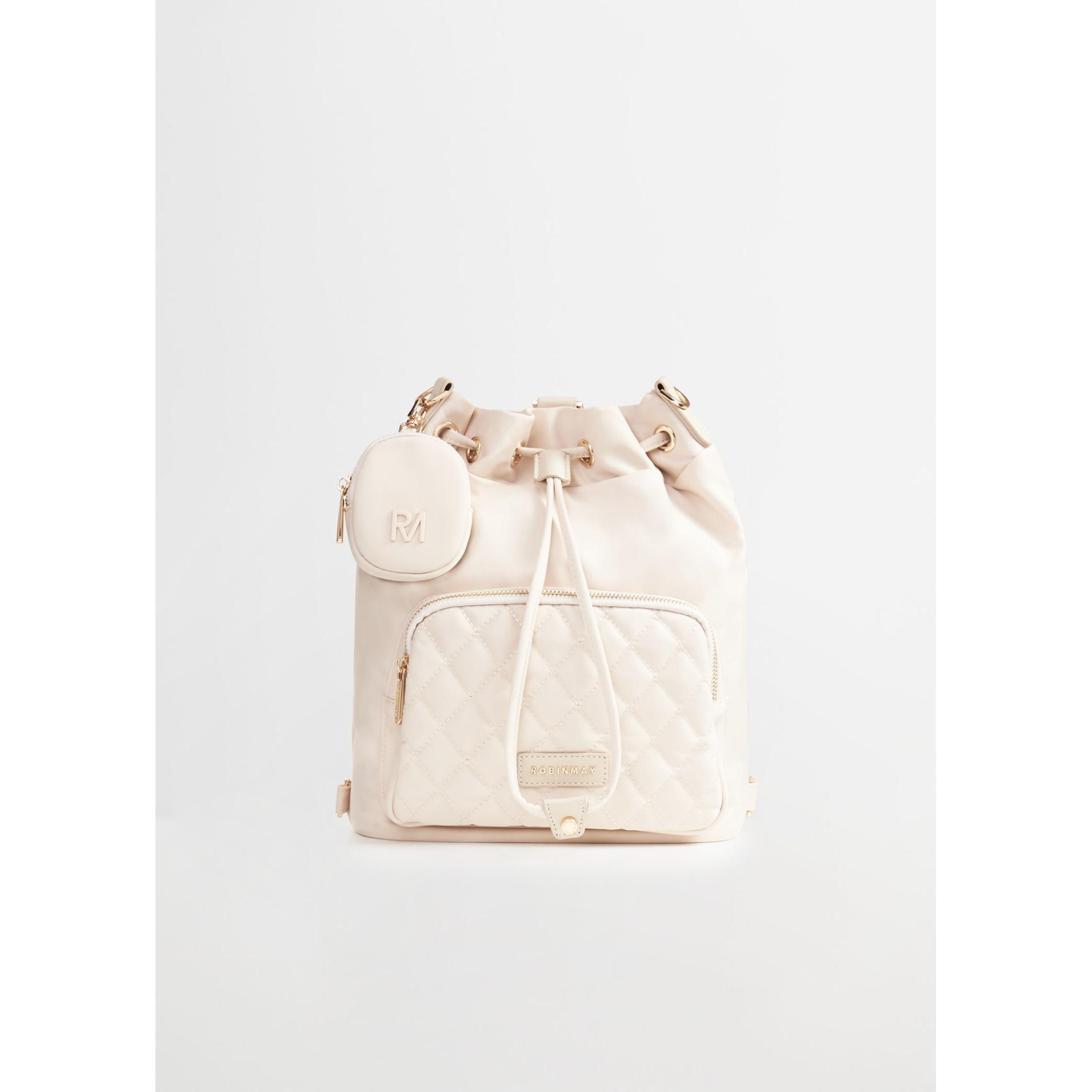 白金-RM菱格水桶包豪華版(L)