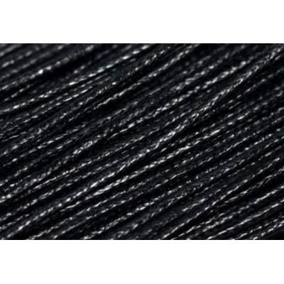 【パーツ】蝋引き紐1.0mm 5m 黒