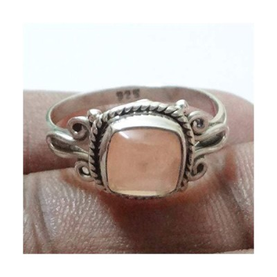 Solid 925 Sterling Silver Rings for Women & Girls, Sterling Silver Rose Quartz Ring Cocktail Mothers Day Gift, Bridesmaid Gift, Handmade Jew