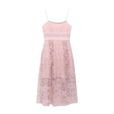SELF-PORTRAIT 7分丈ワンピース・ドレス ピンク 12 ポリエステル 100% 7分丈ワンピース・ドレス