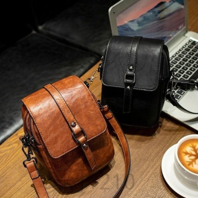 ショルダーバッグレディース斜めがけ軽量財布フェイクレザーインスタレディースバッグレトロきれいめリュック小さいレディースバッグ黒ブラウン