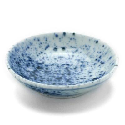 染付吹墨2.7寸皿・阪東晃司《豆皿・8.2cm》