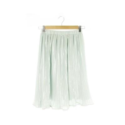 【中古】スウィングル Swingle スカート プリーツ ひざ丈 光沢感 S 緑 グリーン /AO8 ☆ レディース 【ベクトル 古着】