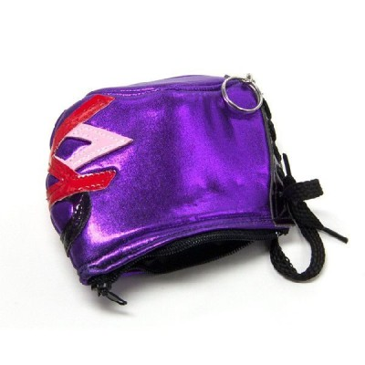 ルチャマスクキーホルダー(ビジャノ/紫)