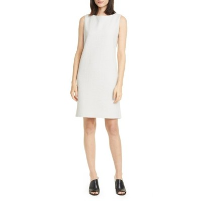 エイリーンフィッシャー レディース ワンピース トップス Jacquard Sleeveless Shift Dress BONE
