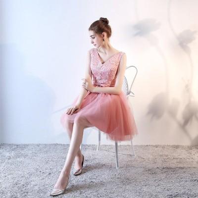 パーティードレス 安い 可愛い イブニングドレス パーティー ミニ ミニドレス ドレス 綺麗め 結婚式 披露宴 2次会 発表会 演奏会