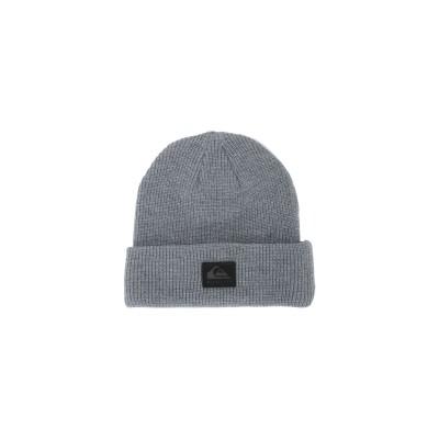 クイックシルバー QUIKSILVER 帽子 グレー one size アクリル 100% 帽子