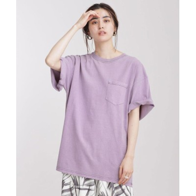 (nano・universe/ナノユニバース)JEMORGAN/別注クルーネックポケットTシャツ 半袖/レディース Lパープル1