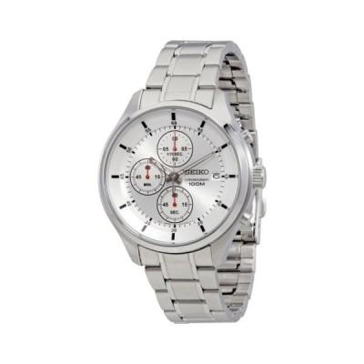 腕時計 セイコー Seiko クロノグラフ シルバー ダイヤル メンズ 腕時計 SKS535