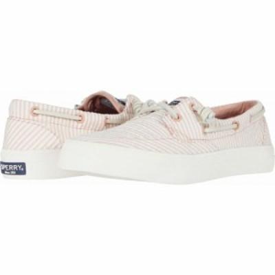 スペリートップサイダー Sperry レディース シューズ・靴 Crest Boat Seersucker Coral/White
