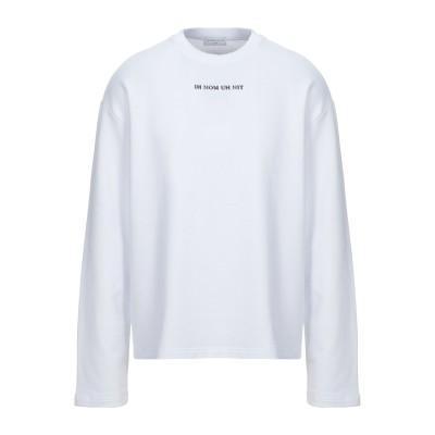 IH NOM UH NIT スウェットシャツ ホワイト XS コットン 100% / ポリウレタン スウェットシャツ