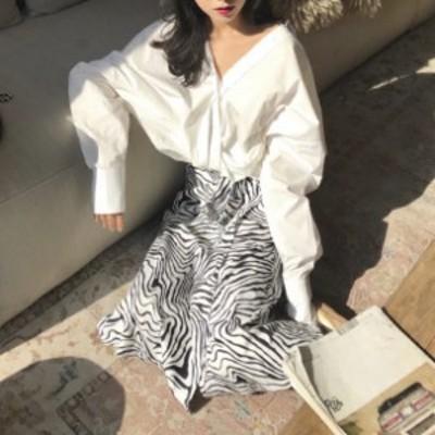 送料無料 2020年 新作 ファッション 秋新作 ゼブラ柄 オルチャン ファッション デート 可愛い スカート