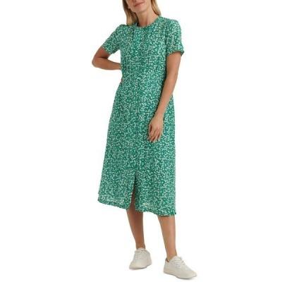 ラッキーブランド ワンピース トップス レディース Penelope Floral-Print Pleated Dress Green Multi