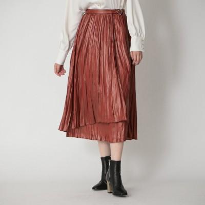 ラブレス LOVELESS プリーツ ラップ スカート (ピンク)