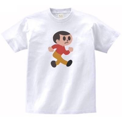 飛び出し坊や 左 標識 看板 マーク Tシャツ