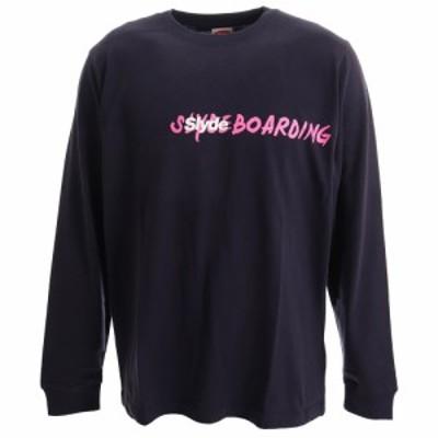 スライド(SLYDE)Tシャツ メンズ 長袖 PHOTO sl201909003-NVY オンライン価格(Men's)