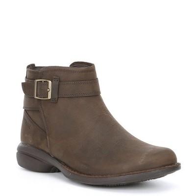 メレル レディース ブーツ&レインブーツ シューズ Andover Bluff Waterproof Leather Buckle Strap Detail Ankle Booties Espresso