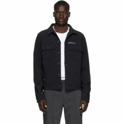 オフホワイト Off-White メンズ ジャケット アウター Black Slim Scuba Jacket Black/White