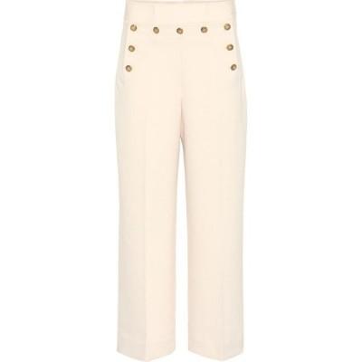 トリー バーチ Tory Burch レディース クロップド ボトムス・パンツ Cropped Sailor high-rise pants New Ivory