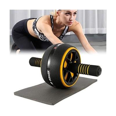 腹筋ローラー 膝マット付き アブホイール 腹筋 トレーニング器具 筋トレグッズ エクササイズローラー 体幹 ストレッチ ダイエット器具 アブローラー