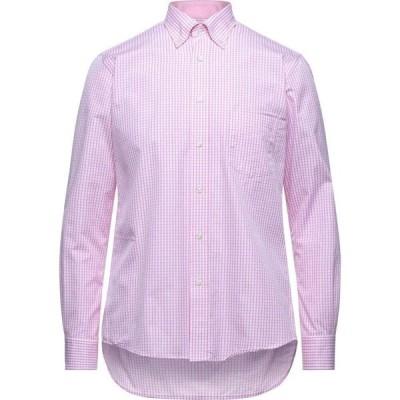 ミルト MIRTO メンズ シャツ トップス checked shirt Pink