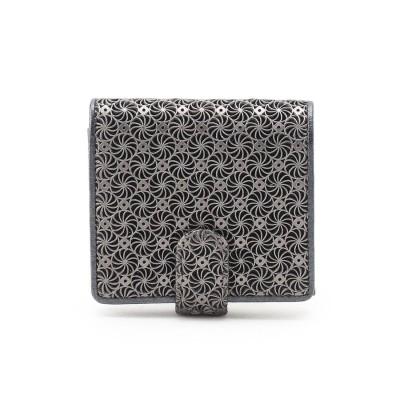 ヒロコ ハヤシ HIROKO HAYASHI GIRASOLE(ジラソーレ)薄型二つ折り財布 (ブラック)