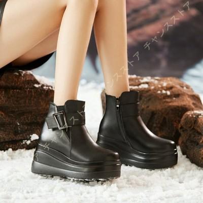 厚底 ブーツ アンクルブーツ ショートブーツ ウェッジソール レディース ブーツ 8cmヒール ダンス ベルト ブーツ プラットフォーム ハイヒール ワークブーツ 袴