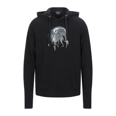 ジャストカヴァリ JUST CAVALLI スウェットシャツ ブラック L ナイロン 65% / コットン 35% スウェットシャツ