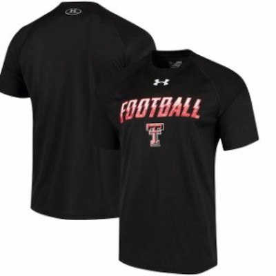 Under Armour アンダー アーマー スポーツ用品  Under Armour Texas Tech Red Raiders Black Football Sideline Tech Perf