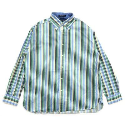 トミーヒルフィガー ボタンダウンシャツ ストライプ サイズ表記:L