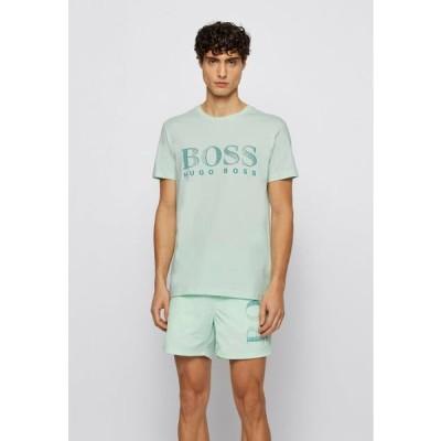 ボス メンズ ファッション RN - Print T-shirt - light green