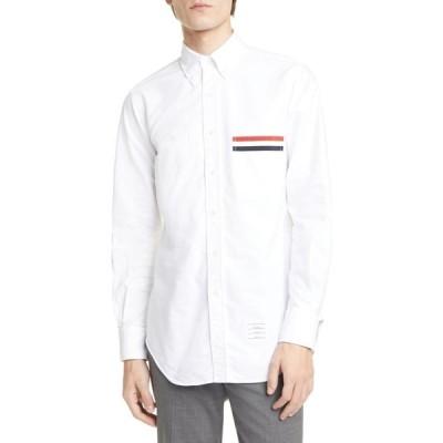 トム ブラウン THOM BROWNE メンズ シャツ トップス Extra Slim Fit Oxford Button-Down Shirt White