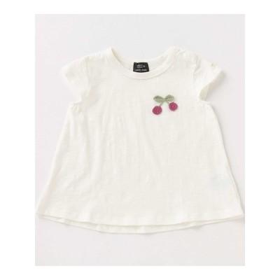【petit main】【オーガビッツ/接触冷感】編みモチーフTシャツ