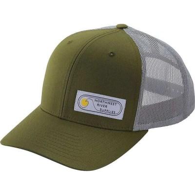 エヌアールエス NRS メンズ キャップ トラッカーハット 帽子 Retro Trucker Hat Moss Green