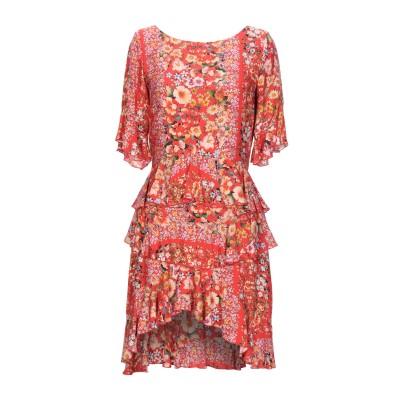 BLACK CORAL ミニワンピース&ドレス レッド 38 レーヨン 100% ミニワンピース&ドレス
