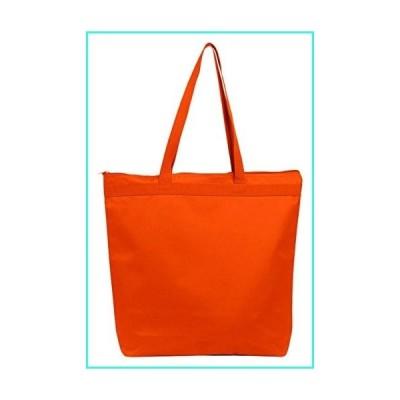 【新品】Liberty Bags 8802 Large Tote with Zipper Closure - One Size - Orange(並行輸入品)