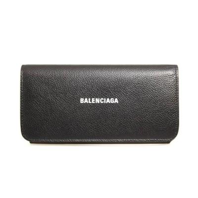 バレンシアガ BALENCIAGA 財布 レディース 長財布 ブラック CASH THIN MONEY WALLET 594289 1IZIM 1090 BLACK/L WHITE