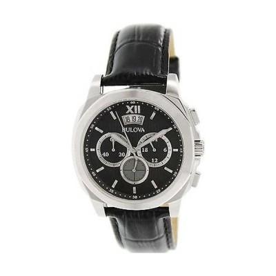 腕時計 ブローバ Bulova メンズ クラシック 96B218 ブラック レザー クォーツ 腕時計