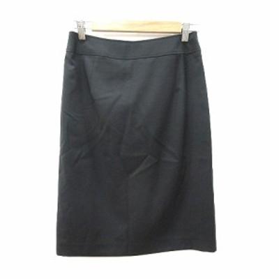 【中古】ニューヨーカー NEWYORKER タイトスカート ひざ丈 ウール 9 黒 ブラック /CT レディース