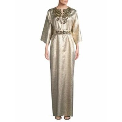キャロライナヘレラ レディース ワンピース Metallic Silk-Blend Gown