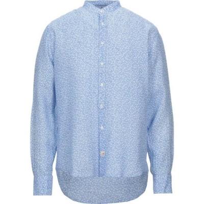 パナマ PANAMA メンズ シャツ トップス Linen Shirt Sky blue