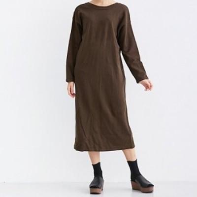 【MERLOT IKYU】2WAY ロング丈 ニット 長袖 ワンピース 羽織り カーディガン 使いまわし抜群 フリーサイズ FREESIZE