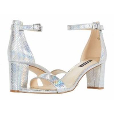 Nine West ナインウエスト レディース 女性用 シューズ 靴 ヒール Pruce Block Heeled Sandal Silver 2【送料無料】