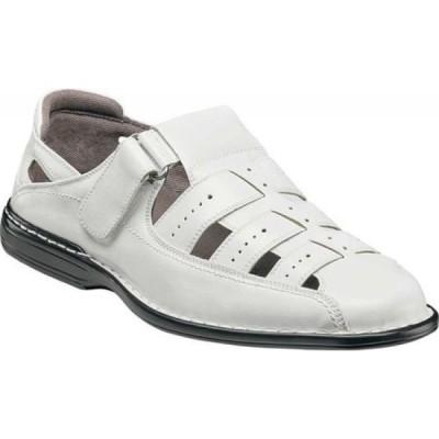 ステイシー アダムス Stacy Adams メンズ サンダル フィッシャーマンサンダル シューズ・靴 Bridgeport Fisherman Sandal 25184 White Synthetic