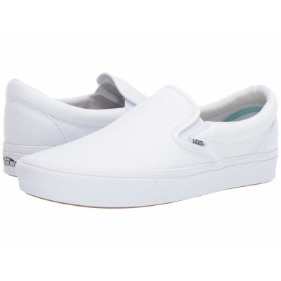バンズ スニーカー シューズ メンズ ComfyCush Slip-On (Classic)True White/True White