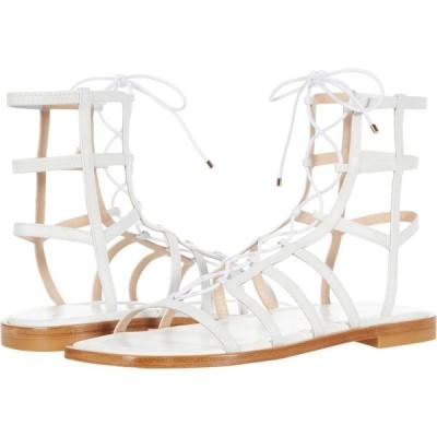 スチュアート ワイツマン Stuart Weitzman レディース サンダル・ミュール レースアップ シューズ・靴 Kora Lace-Up White