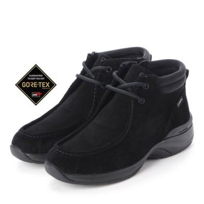 定価19,800円 madras Walk MWL1012 マドラスウォーク ゴアテックス GORE-TEX 本革 ワラビー レディース ショートブーツ サイドファスナー 婦人 靴 ブラック